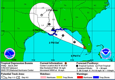 tropical storm bonnie