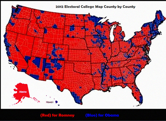 Subverted Election Connecting Dots To Obamalinked Spanish - Map of county votes for us election