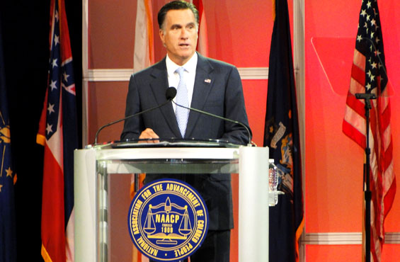 mitt romney at naacp convention